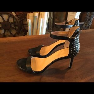 Banana Republic Sexy Strap Heels with Gold Accents